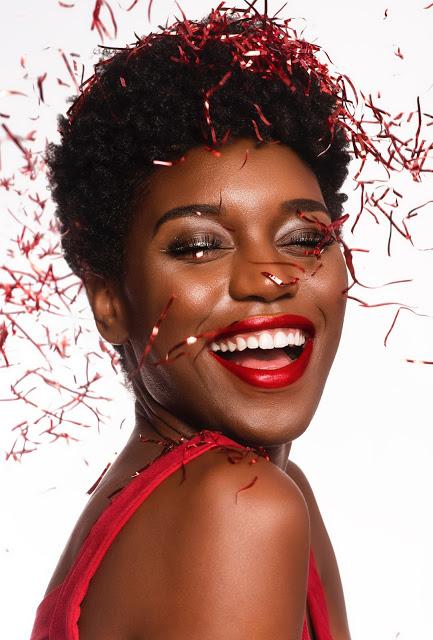 black girl celebrating